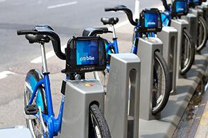City bikes in New York