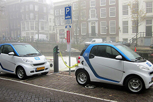 Amsterdam smart cars with charger