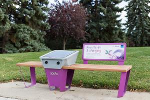 Soofa bench: Smart street furniture