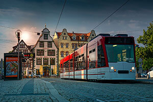 Autonomous Tram In The List Of Public Transport
